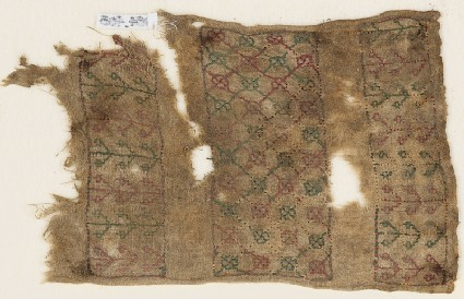 Textile fragment with quatrefoils, possibly from a sash or turban bandfront