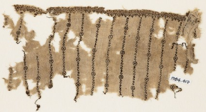 Textile fragment with reversed S-shapes, possibly from a tunicfront