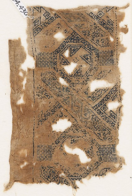 Textile fragment with band of interlacefront