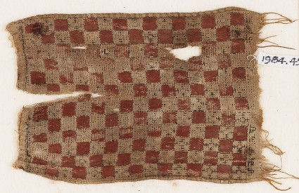 Textile fragment with gridfront