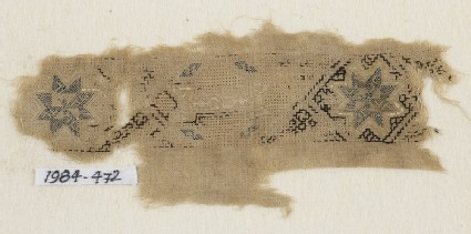 Textile fragment with band of starsfront