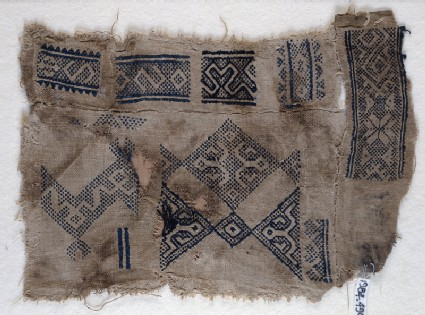 Sampler fragment with S-shapes and hooksfront
