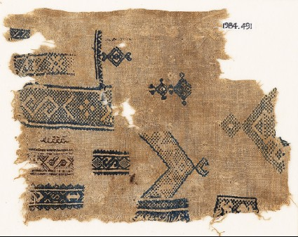 Sampler fragment with S-shapes, diamond-shapes, and crescentsfront