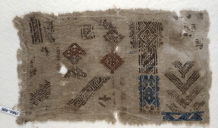 Sampler fragment with diamond-shapes and chevronsfront