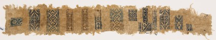 Sampler fragment with diamond-shapes, crosses, and S-shapesfront