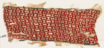 Textile fragment with linked pinwheelsfront