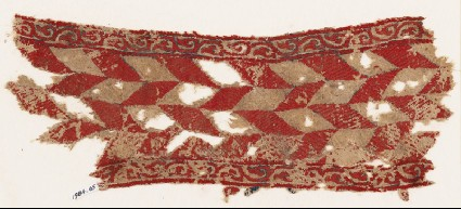 Textile fragment with lozengesfront