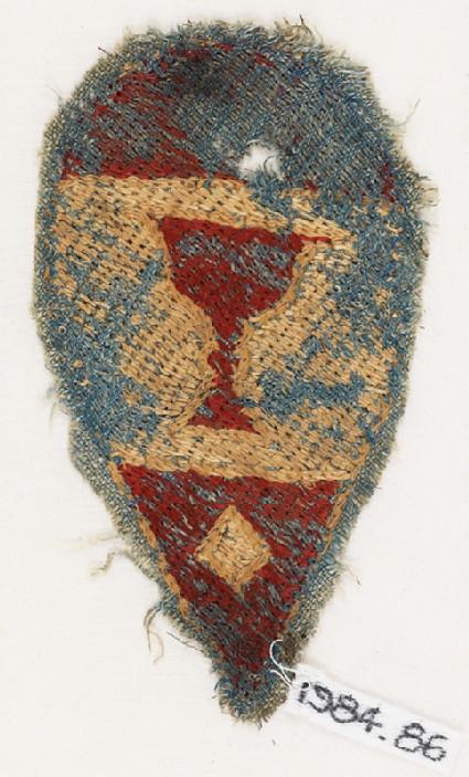 Textile fragment with heraldic blazonfront