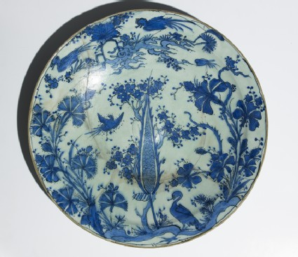 Dish with birds in a landscapetop
