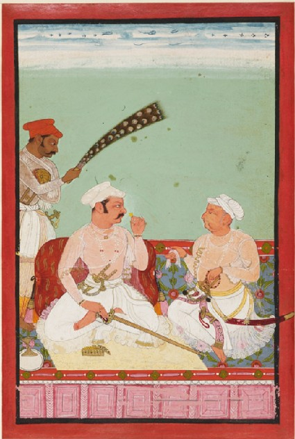 Maharao Ratan Singh with courtiersfront
