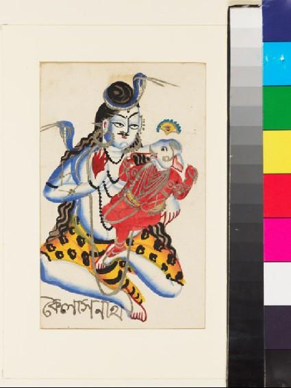 Shiva seated with Ganesha on his lapfront