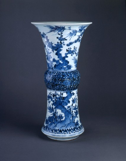Vase with the 'Three Friends of Winter'front