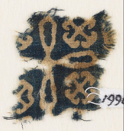 Textile fragment with cross and Maltese crossesfront