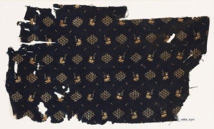 Textile fragment with rectangular shapes and kitesfront