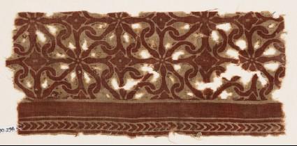 Textile fragment with interlocking spiralsfront