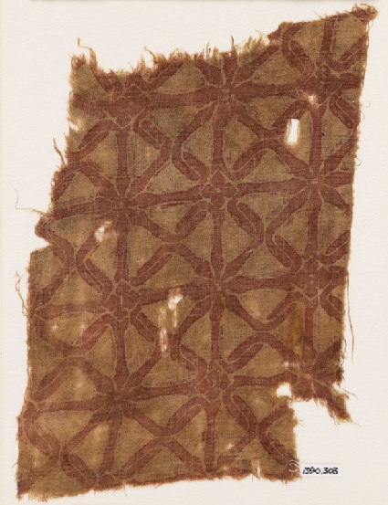 Textile fragment with interlacefront