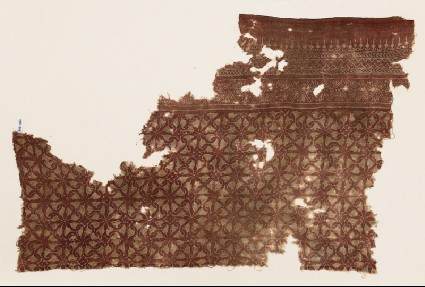 Textile fragment with interlocking spiralsfront