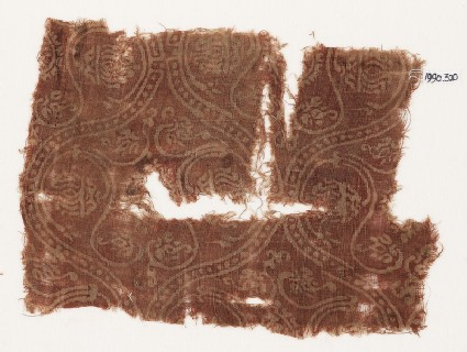 Textile fragment with interlocking medallionsfront