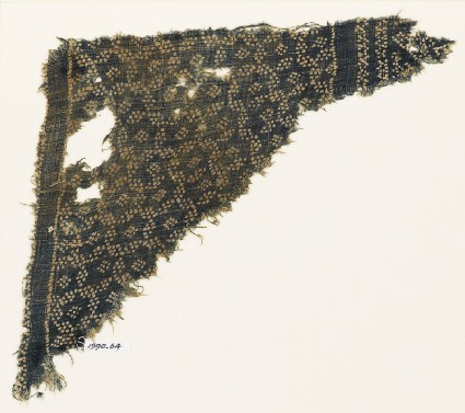 Textile fragment with star-shaped grid made of dotsfront