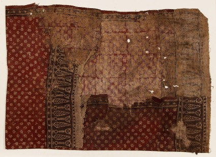 Textile fragment with starsfront