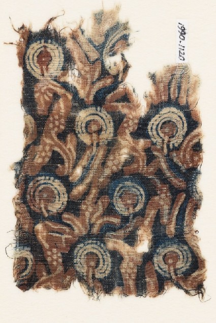Textile fragment with stylized plantsfront