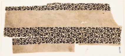 Textile fragment with bands of vinesfront
