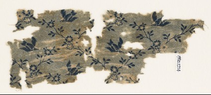 Textile fragment with birds and flowersfront