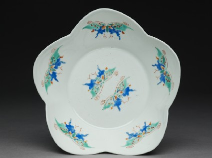 Lobed bowl with butterfliestop