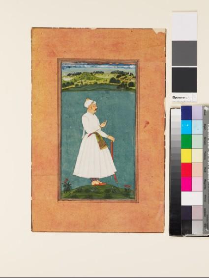 Sawai Jai Singh standing in a landscapefront