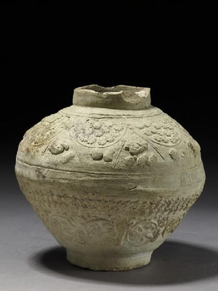 Jar with animal and vegetal decorationside