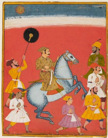 Maharana Raj Singh ridingfront