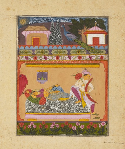 Lovers at dawn, illustrating the musical mode Raga Vibhasafront