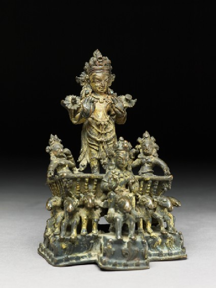 Figure of Surya, the Sun god, in his chariotoblique