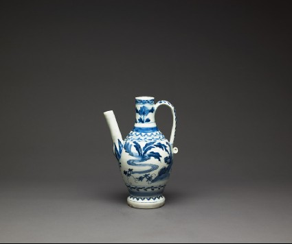 Ewer with floral decorationside