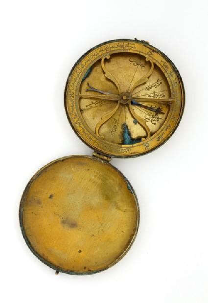 Qibla compasstop, open