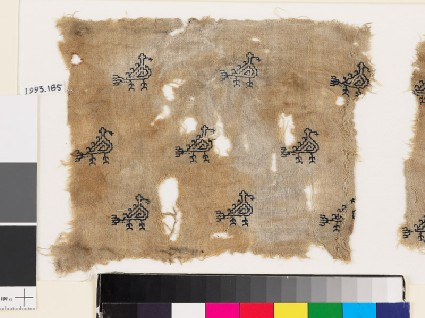 Textile fragment with stylized birdsfront