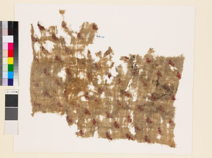 Textile fragment with stylized birdsfront