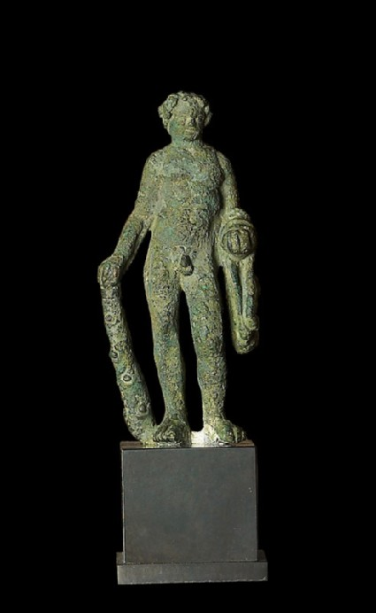 Figure of Heracles with lion-skin and clubfront