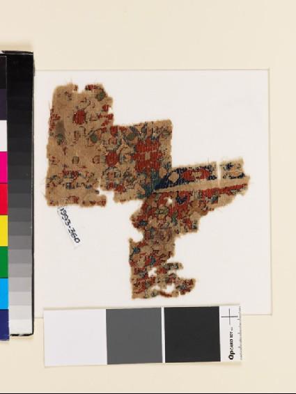 Textile fragment with floral patternfront