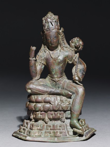 Seated figure of Padmapanifront