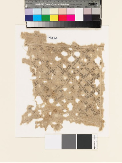 Textile fragment with diamond-shapes and hooksfront