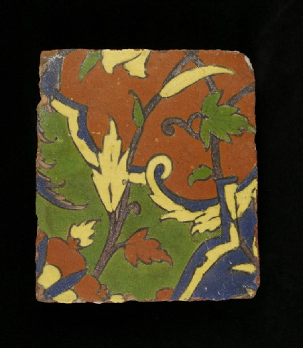 Glazed tile from the tomb of Madin Sahibfront