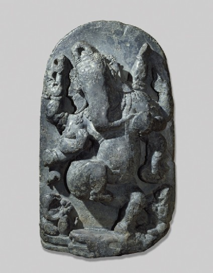 Stele with dancing Ganeshafront