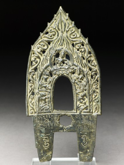 Prabha, or backplate to a Buddhist imagefront