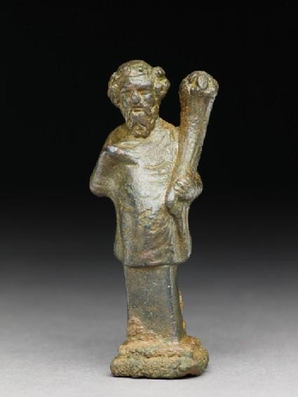 Hip herm of Silenus or a satyr holding a cornucopiafront