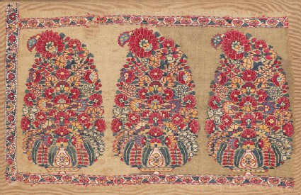 Shawl border fragment with butafront
