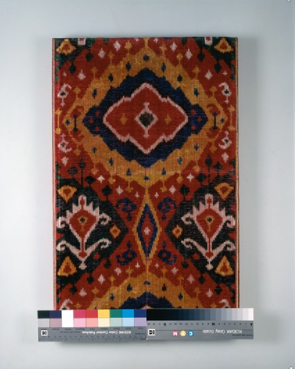 Fragment of ikat velvetfront