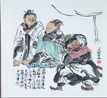 Liu Bei sending Zhang Fei to fight against Ma Chaofront
