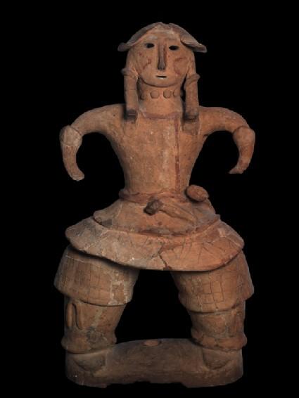 Haniwa figure of a warriorfront