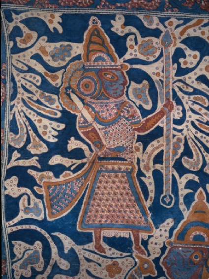 Ceremonial textile, or maa', with rows of walking figuresdetail